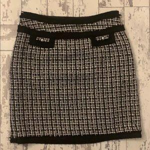 White House Black Market tweed mini skirt , size 2